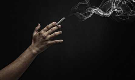 Cigar and Black Smoke Background
